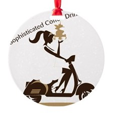 Sophisticated Coffee Drinker Ornament