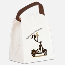 Sophisticated Coffee Drinker Canvas Lunch Bag
