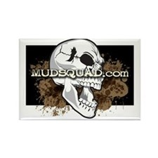 Muddy Skull Rectangle Magnet