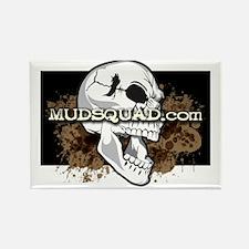 Muddy Skull Rectangle Magnet