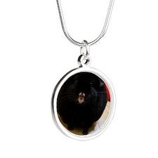 Oval - Jet Silver Round Necklace
