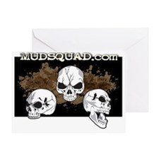 Muddy Skulls Greeting Card