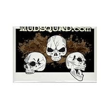 Muddy Skulls Rectangle Magnet