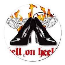 hell on heels Round Car Magnet