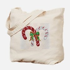 Glitter Candy Canes Tote Bag