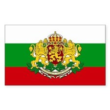 Bulgaria with coat of arms Rectangle Decal