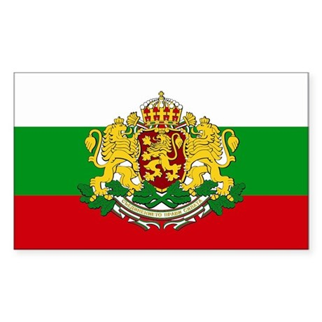Bulgaria with coat of arms Rectangle Sticker