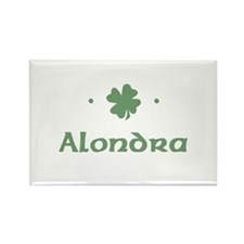 """Shamrock - Alondra"" Rectangle Magnet"