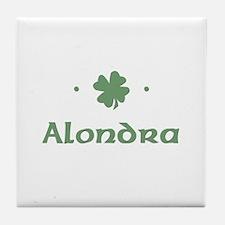 """""""Shamrock - Alondra"""" Tile Coaster"""