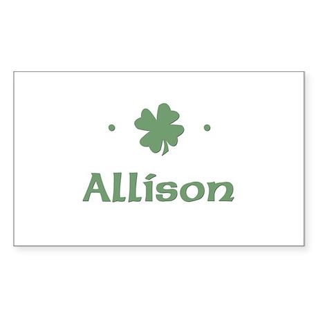 """Shamrock - Allison"" Rectangle Sticker"