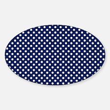 drkbluepolkadotlaptopskin Sticker (Oval)