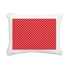 redpolkadotlaptopskin Rectangular Canvas Pillow