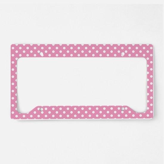 pinkpolkadotlaptopskin License Plate Holder