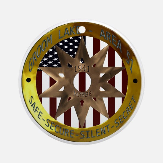 Area 51 SSSS Badge Round Ornament