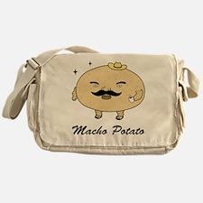 Tough Guy Macho Potato_text Messenger Bag