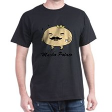 Tough Guy Macho Potato_text T-Shirt
