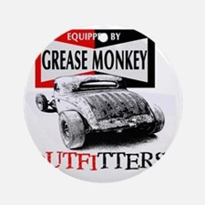 grease monkey equipped-lakester Round Ornament