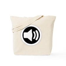 Audio Speaker White Tote Bag
