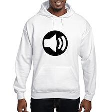 Audio Speaker White Hoodie