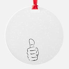 Apologize In Advance White Ornament