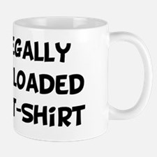 Illegally Downloaded TShirt Black Mug