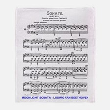 Moonlight-Sonata-Ludwig-Beethoven-iP Throw Blanket