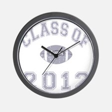 Class Of 2012 Football - Grey 2 D Wall Clock