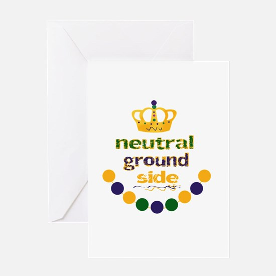neutral ground side crown and beads Greeting Cards