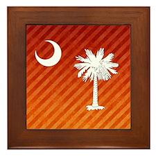 South Carolina Palmetto State Flag Framed Tile