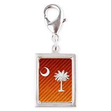 South Carolina Palmetto Stat Silver Portrait Charm
