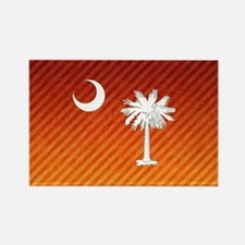 South Carolina Palmetto State Fla Rectangle Magnet