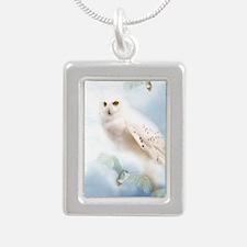 SnowyOwl Silver Portrait Necklace