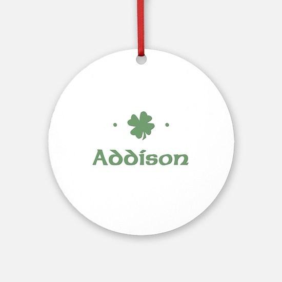"""Shamrock - Addison"" Ornament (Round)"