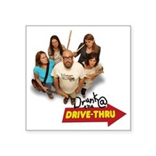 "D@DT Album Cover Light Square Sticker 3"" x 3"""