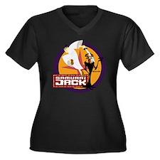 samuraijackf Women's Plus Size Dark V-Neck T-Shirt