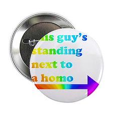 """Standing Next To A Homo 2.25"""" Button"""