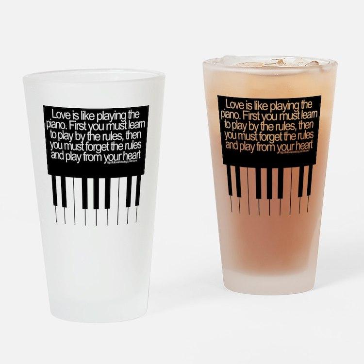 LOVE IS LIKE Drinking Glass