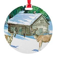 Winter Cabin Ornament