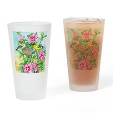 Goldfinch - Rose of Sharon Drinking Glass