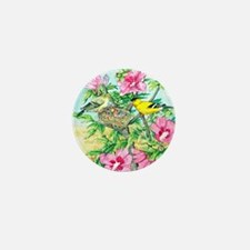 Goldfinch - Rose of Sharon Mini Button