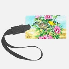 Goldfinch - Rose of Sharon Luggage Tag