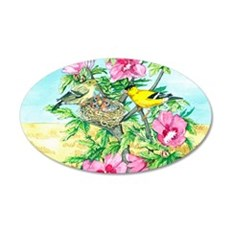 Goldfinch - Rose of Sharon Wall Decal