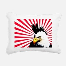 Eagle with Mohawk Rectangular Canvas Pillow