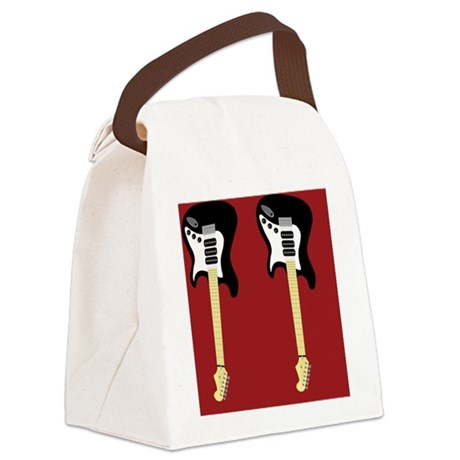 electric_guitar_ff_red_png Canvas Lunch Bag