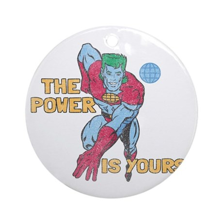 you-are-the-power-vintage - Copy Round Ornament