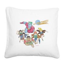 captain-planet-logo-vintage - Square Canvas Pillow