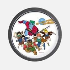 by-our-powers-combined-normal - Copy Wall Clock