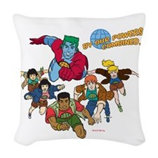 by-our-powers-combined-normal  Woven Throw Pillow
