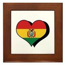 I Love Bolivia Framed Tile