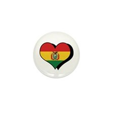 I Love Bolivia Mini Button (100 pack)